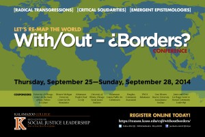 Advertisement for the 2014 Without Borders Conference