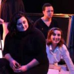 Three Actors at Dungeon Theatre at Kalamazoo College