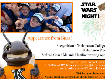 Advertisement for K Night at the Kalamazoo Growlers game