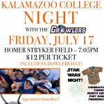 Growlers Baseball Hosts Kalamazoo College Night