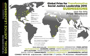 Advertisement for global prize weekend