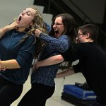"Students rehearse Festival Playhouse Production of Joshua Harmon's ""Bad Jews"""
