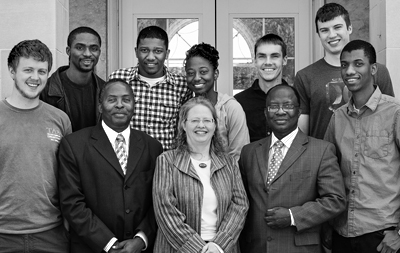 Kalamazoo College Professor Alyce Brady with colleagues and students