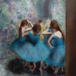 Dancers in Blue photograph resembling Les Danseuses Bleues painting by Edgar Degas