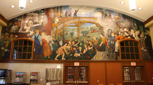 Evergood Mural, Kalamazoo College