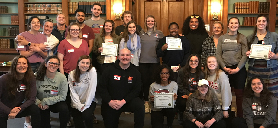 Kalamazoo College Students Complete Green Dot Training