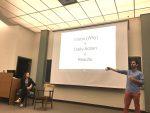 Karman Kent and Matt Thieleman talk to the K community at the first K-Talk