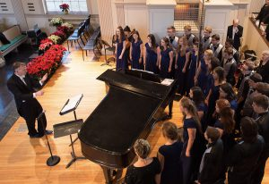 College Singers Rehearse Social Justice-Themed Concert