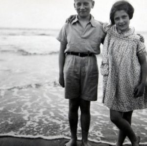 Holocaust Survivor Irene Butter and Her Brother as Children
