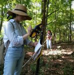 Fiorina Talaba and Fiona Summers mapping invasive species