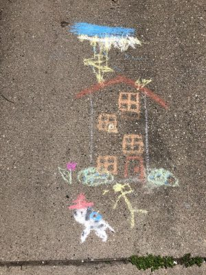 Sidewalk Chalk Art in the Co-Authorship Program