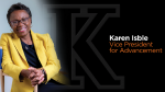 Advancement Vice President Karen Isble