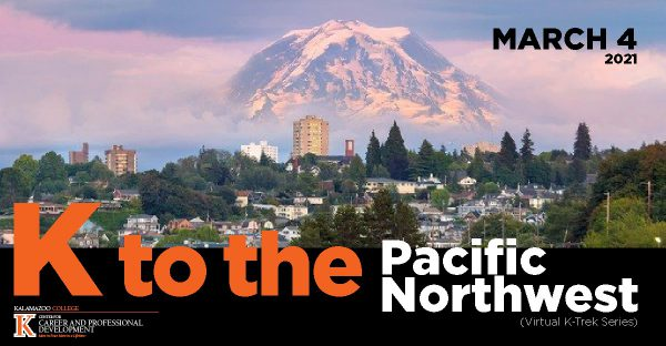 K to the Pacific Northwest image advertises careers event