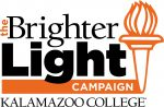Image says The Brighter Light Campaign Kalamazoo College