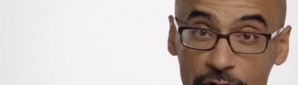 screenshot of Junot DIaz in Habla Men video