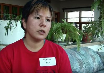 Vanessa Tait being interviewed
