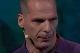 close up of Yanis Varoufakis