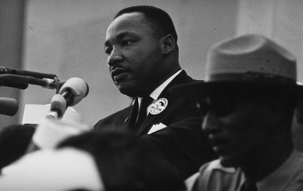 """Martin Luther King Junior During his """"I have a dream"""" speech"""