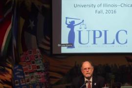 Executive Director of UPLC Alan Mills speaking at workshop