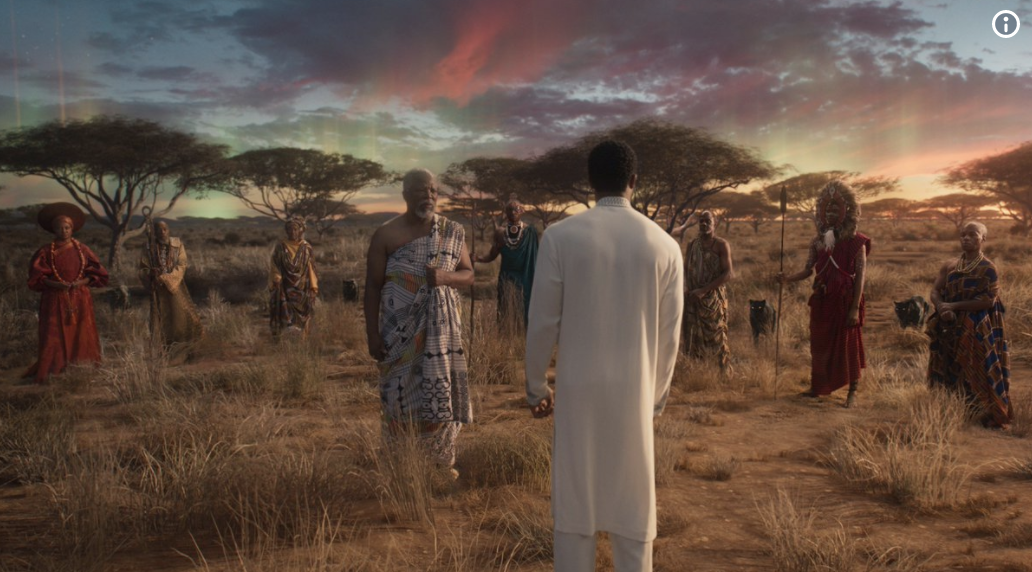 Screen grab from Black Panther, the Ancestral Plane