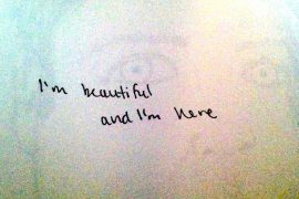 I'm beautiful and I'm here, artwork by Drake