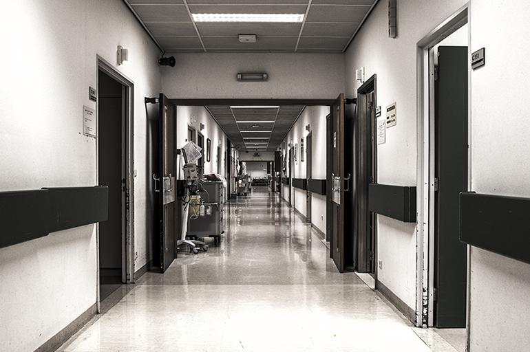 A hospital hallway