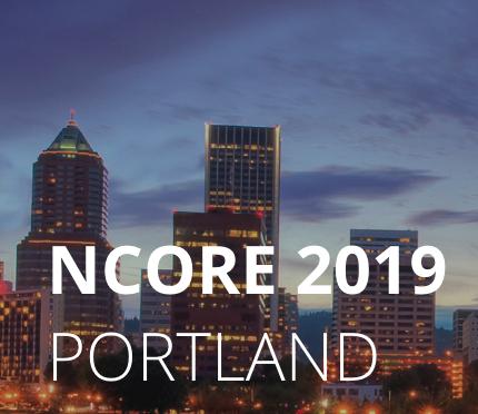 NCORE 2019 Portland, over cityscape