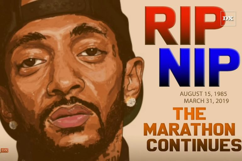 Nipsey Hussle memorial drawing