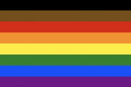 A photo of the Philadelphia Pride Flag.