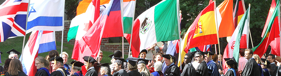 Flag Ceremony at First-year Convocation