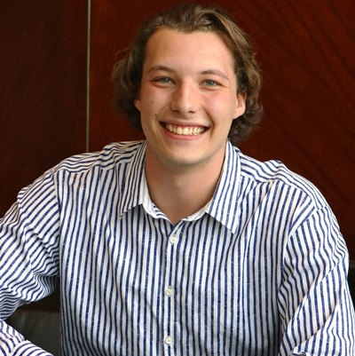 AmeriFirst intern Peter Rossi at the company