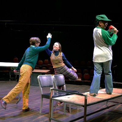 Students rehearse for the Festival Playhouse production of 'Fun Home'