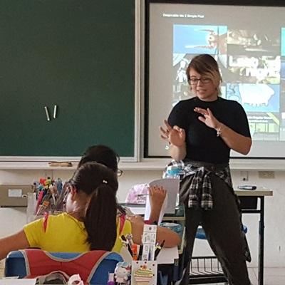 Dejah Crystal teaching in Asia