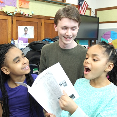 Woodward Students Practice Literacy Skills