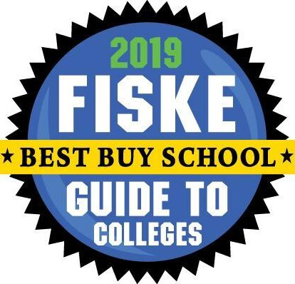 Logo says 2019 Fiske Guide to Colleges Best Buy School