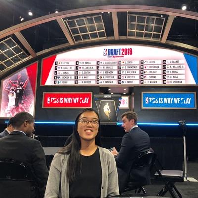 Amanda Moss Working in Her NBA Internship at the NBA Draft